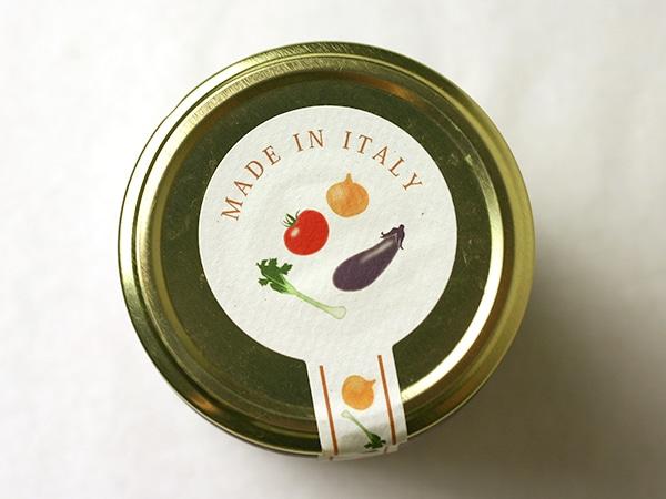 イタリア野菜の蓋デザイン