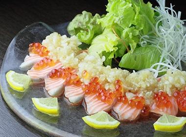 お刺身、カルパッチョなど生食の魚介類